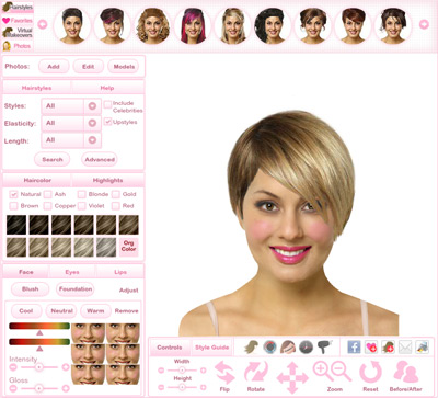 Click here to visit our virtual hairstyler